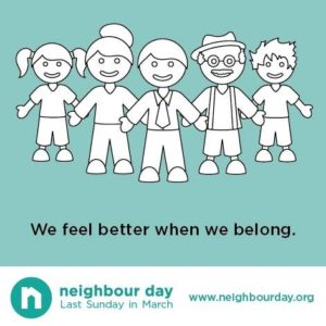Neighbour Day We feel better when we belong